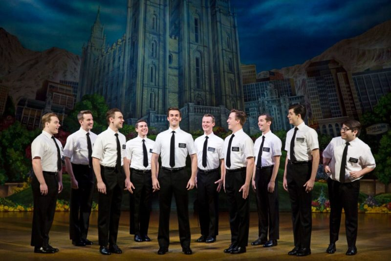Ten Mormons stand at attention awaiting their new assignment