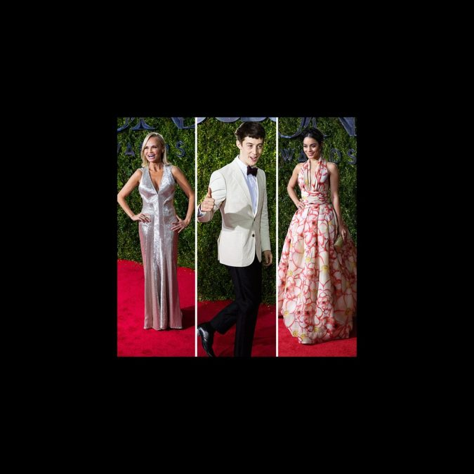 Tony Awards - Fashion Round-Up - wide - Kristin Chenoweth - Alex Sharp - Vanessa Hudgens