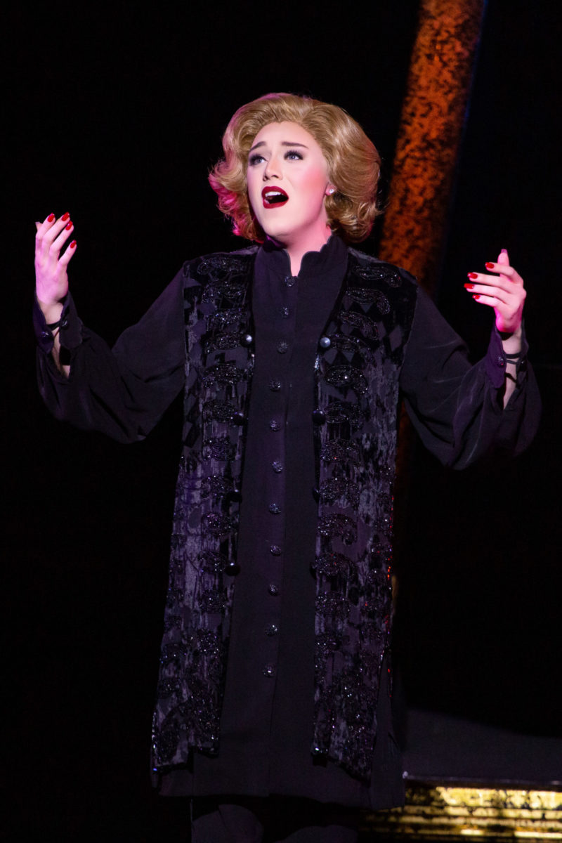 """scene from CHICAGO Mary Sunshine performing """"A Little Bit of Good"""""""